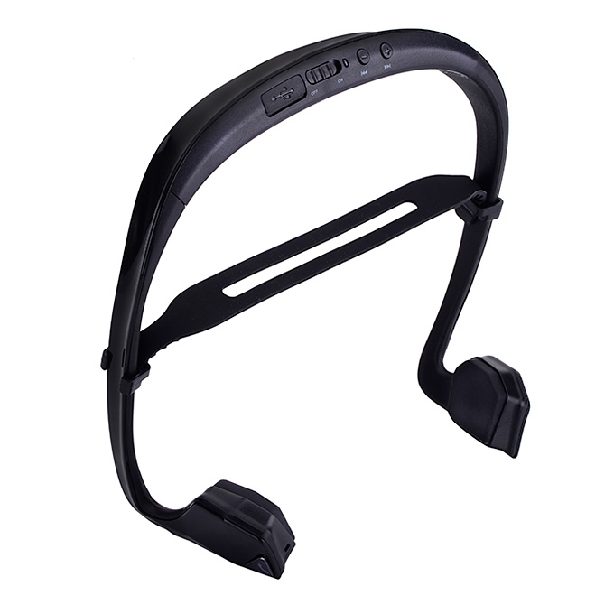 Digicare DO Bone Conduction Headphone Ear Hook Wireless Bluetooth Earphone with NFC and Speaker Connection Call Function - Black
