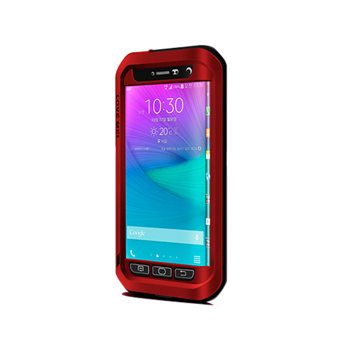 Lovemei Aluminum Powerful Shockproof Gorilla Glass Metal Case Protective Cover For GALAXY Note Edge - Red фото