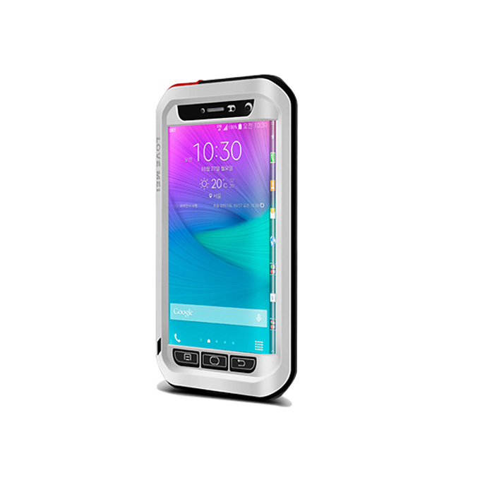 Lovemei Aluminum Powerful Shockproof Gorilla Glass Metal Case Protective Cover For GALAXY Note Edge - Silver