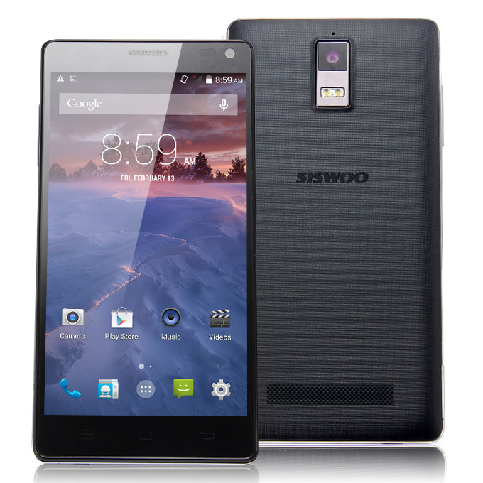 SISWOO Monster R8 5.5inch FHD 3GB+32GB Android 4.4 Phone MTK6595M Octa Core 2.0GHz 1920*1080P 13.0MP Smartphone - Black