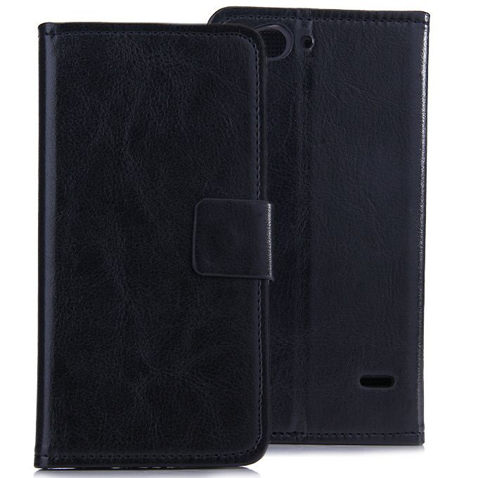 Protective PU Leather Case Hard Case Cover with for ZTE Blade S6 Q7 5.5inch - Black
