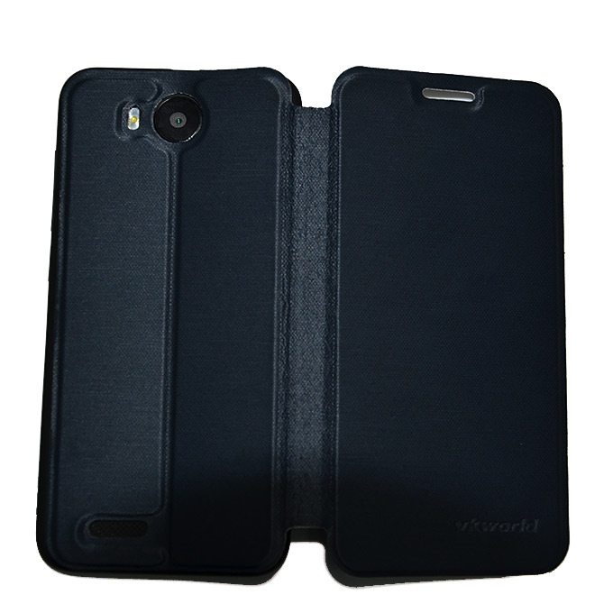 Original View Style Flip Cover Protective Case for Vkworld VK2015 Smartphone - Black фото