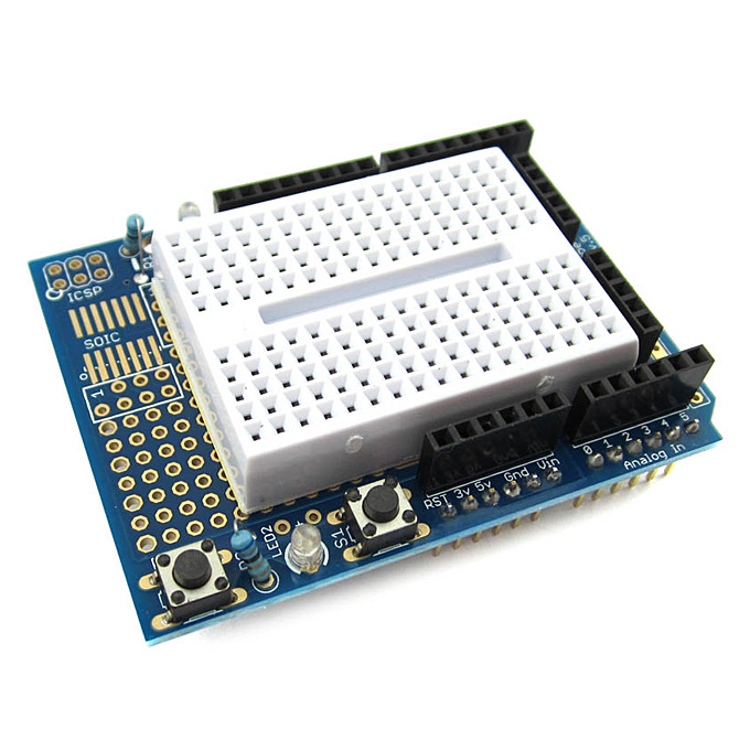 Prototype Shield Expansion Board With SYB-170 Mini Breadboard Base For Arduino UNO Proto Shield