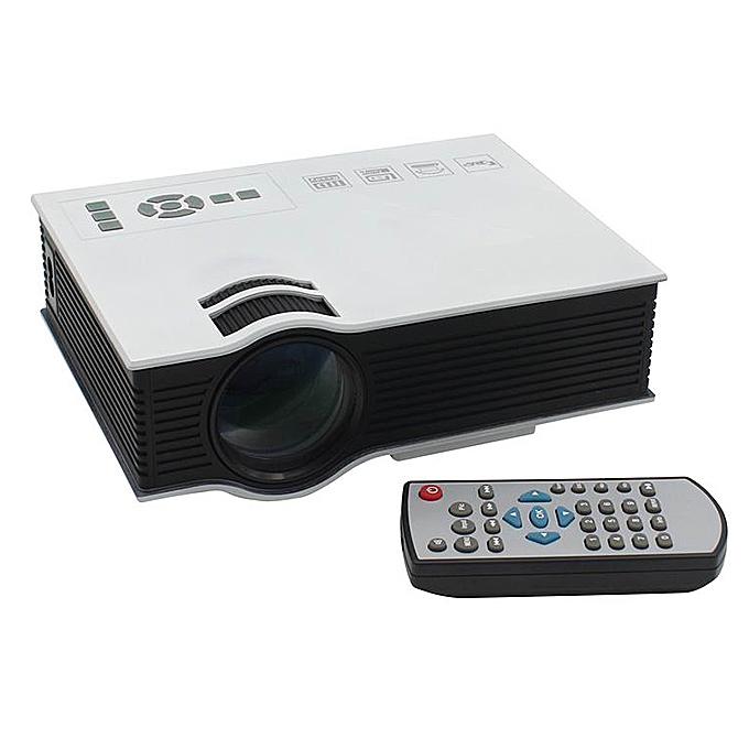 UC40 55WHD 1080P Mini Home 1080P LED Projector 50Lm W/HDMI AV SD USB Remote Control - White