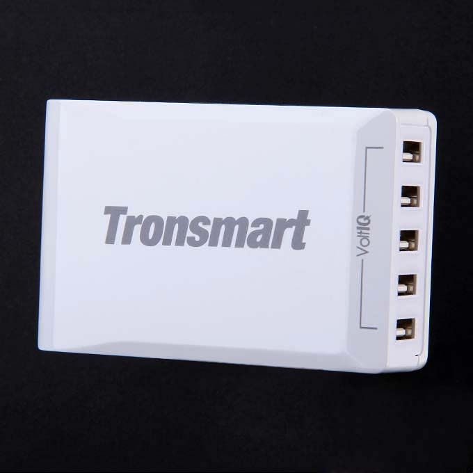Tronsmart 40W 8A 5 Port Portable High Speed Desktop USB Charger with VoltIQ Technology for iPhone/iPad/Samsung - EU Plug