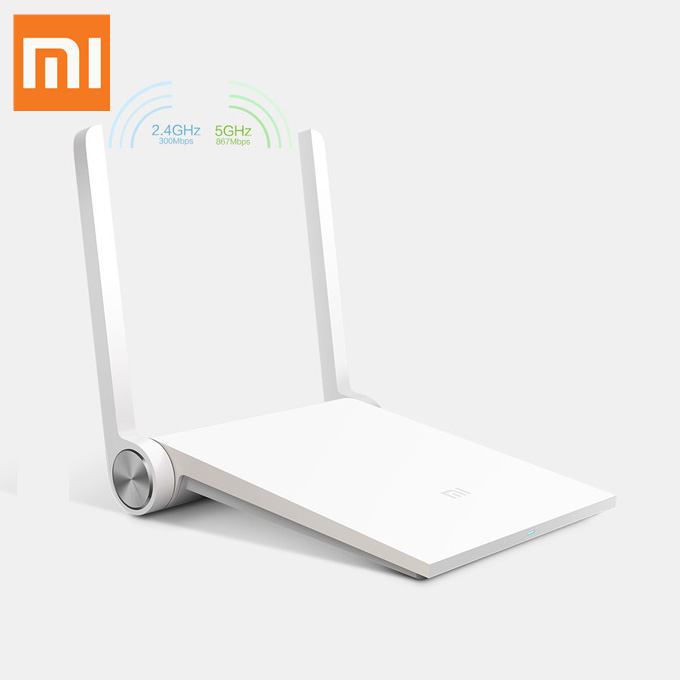 Xiaomi Mi WiFi Mini Router Portable WiFi Reapter High Security 1167Mbps Dual Bands 2.4GHz/5GHz 802.11 AC WiFi Modem - White
