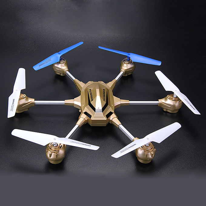 Huajun HJ918 W609-9 4.5 Canale RC 6-Rotor 3D Eversion Aircraft Hexacopter - Golden