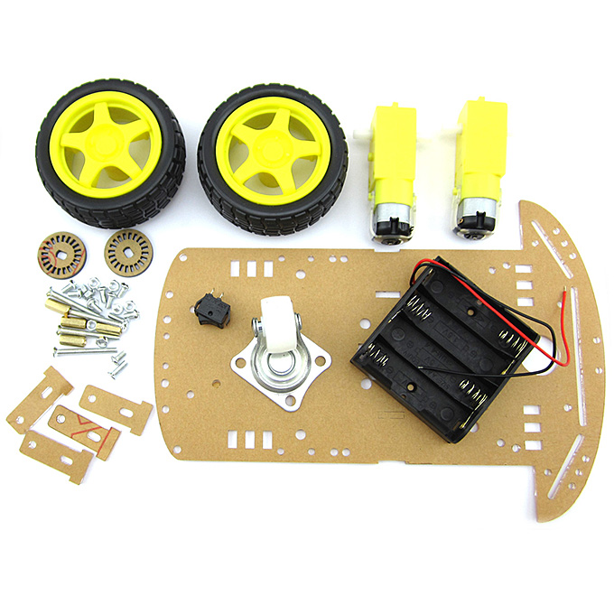 2WD Smart Car Chassis w/Motors/Wheels Kit For DIY Project