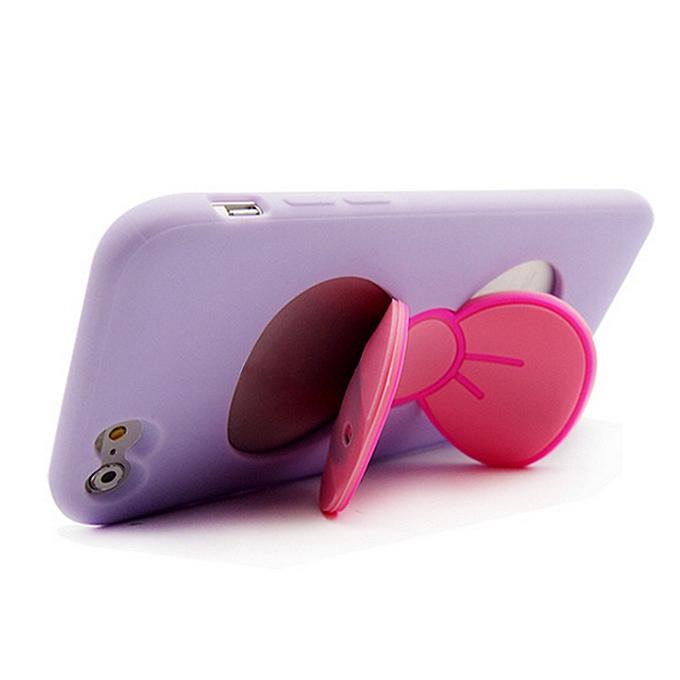 IPhone 6 Plus 5.5inch için Kelebek Serisi Plastik Sırt Kılıfı Koruyucu Örtü - Mor