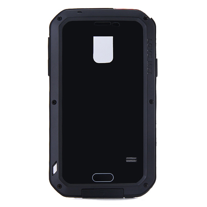 LOVE MEI Weather/Dirt/Shockproof Protective Case for Samsung Galaxy s5 i9600 - Black