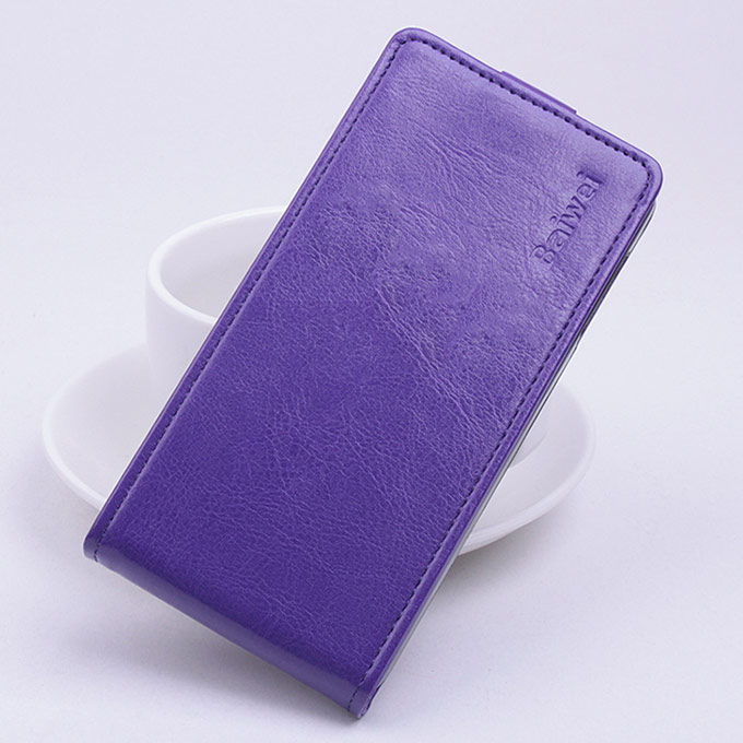Protective Hard Cover Up&Down Flip Stand Leather Case for OUKITEL Original Pure O902 Smartphone - Purple Other