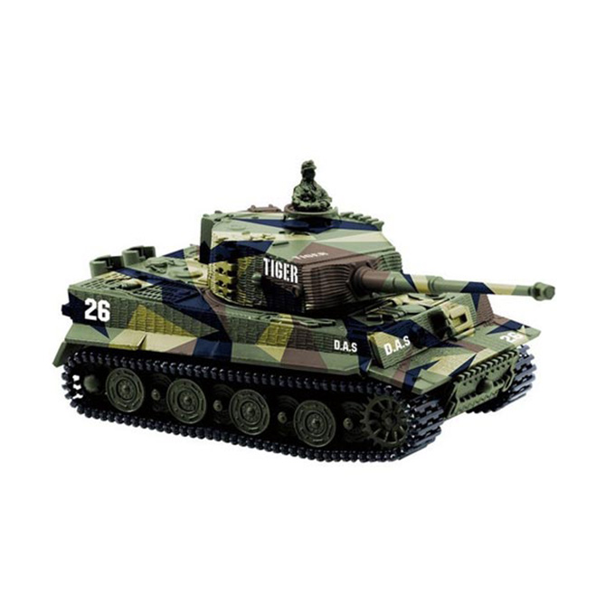 Great Wall 2117 Simulation Tank Tiger 3D Rotating Turret Cross Fire RC Panzer Assaulter - Green