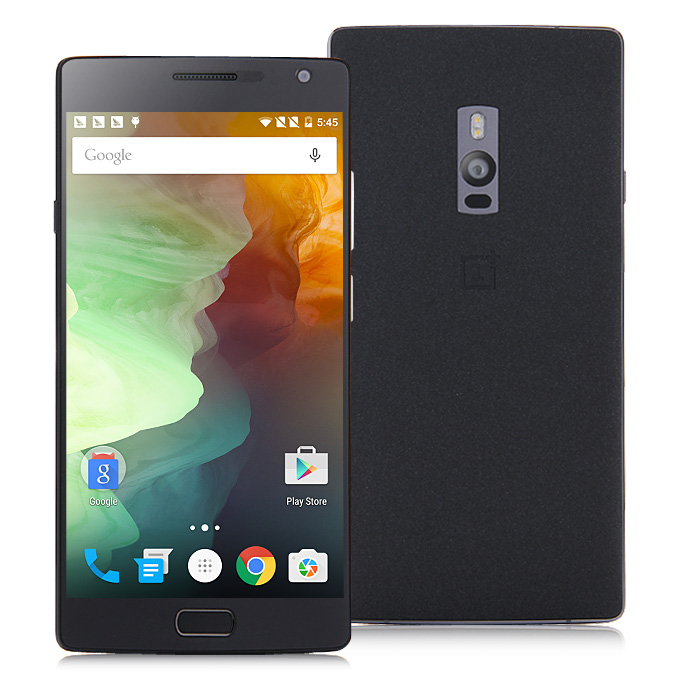 OnePlus 2 5.5inch 3GB 16GB Qualcomm Snapdragon 810 Octa Core Smartphone 13.0MP 4G FDD-LTE Touch ID Type-C 3300mAh 5V/2A Fast Charge OTG - Sandstone Black