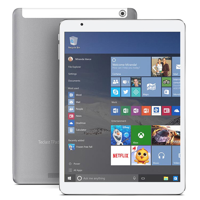 "Teclast X98 Pro Dual OS Windows10 & Android5.1 4GB/64GB 9.7"" Intel Cherry Trail Z8500 Quad Core 2.24GHz Tablet PC IPS 2048*1536 HDMI Bluetooth WiFi - White+Gray"