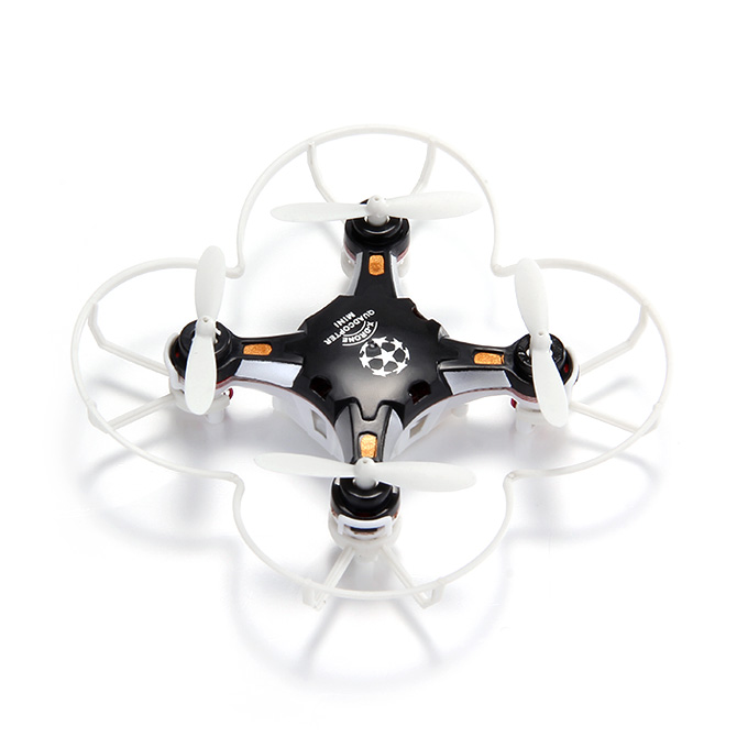 FQ777-124 Micro Drone 4CH 6Axis Gyro Pocket Quadcopter Switchable Controller CF Mode One Key To Return 3D Roll MAV RTF - Black