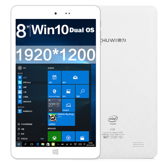 [Package A] CHUWI Hi8 Dual OS Windows10 & Android4.4 Tablet PC + Removable Bluetooth Keyboard with Case