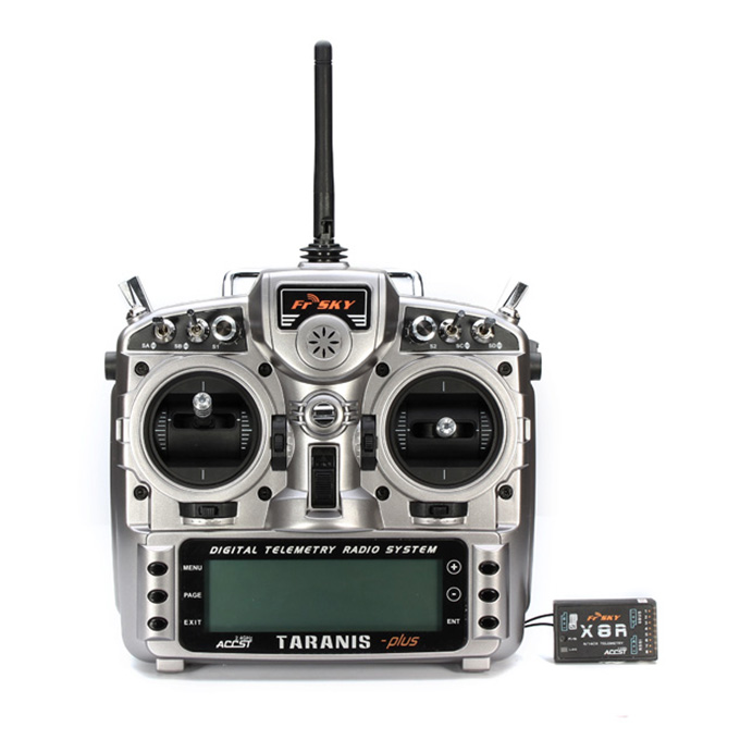 FrSky Taranis X9D PLUS + 2.4G ACCST Taranis X9D Plus Transmitter With X8R Receiver