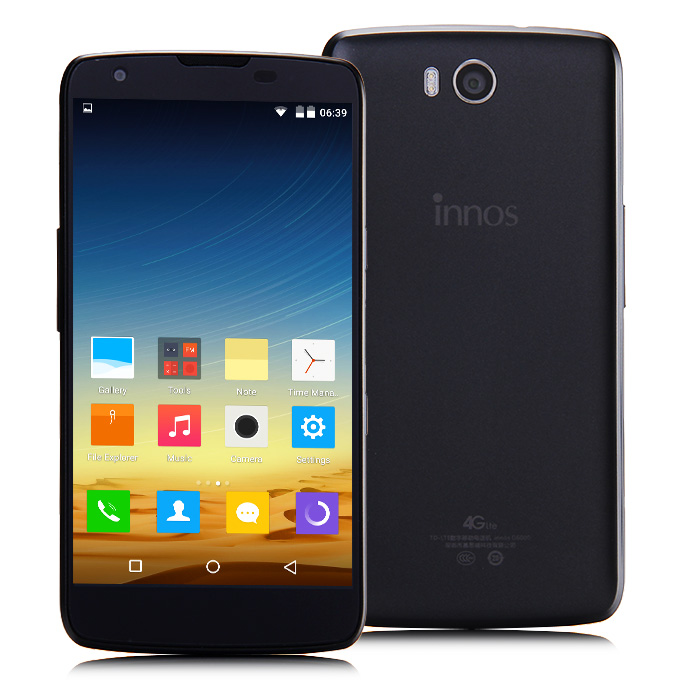 innos D6000 5.2 inch FHD Android 5.0 3GB 32GB 6000mAh Smartphone 64bit Qualcomm Snapdragon 615 Octa Core 16.0MP - Black
