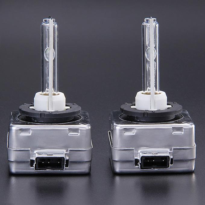 6000K 35W D1S Car HID Warm white Xenon Headlight Light Lamp Bulbs - Black + White ( One Pair )