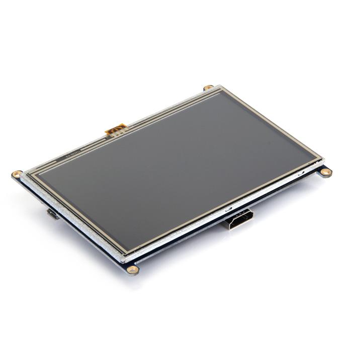 5 pulgadas HDMI LCD (A) 800x480 Alta resolución para Raspberry Pi 2 Modelo B / Raspberry Pi Modelo B / B + / A +