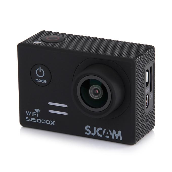 SJCAM SJ5000X ELITE WiFi Action Camera 2.0 Inch LCD Screen 4K HD 12.4MP Sensor 170 Degree Angle Len Wide Dynamic Range With Waterproof Case - Black