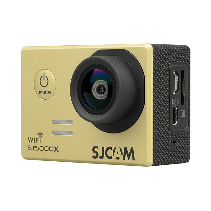 SJCAM SJ5000X ELITE WiFi Action Camera 2.0 Inch LCD Screen 4K HD 12.4MP Sensor 170 Degree Angle Lens Wide Dynamic Range With Waterproof Case - Gold