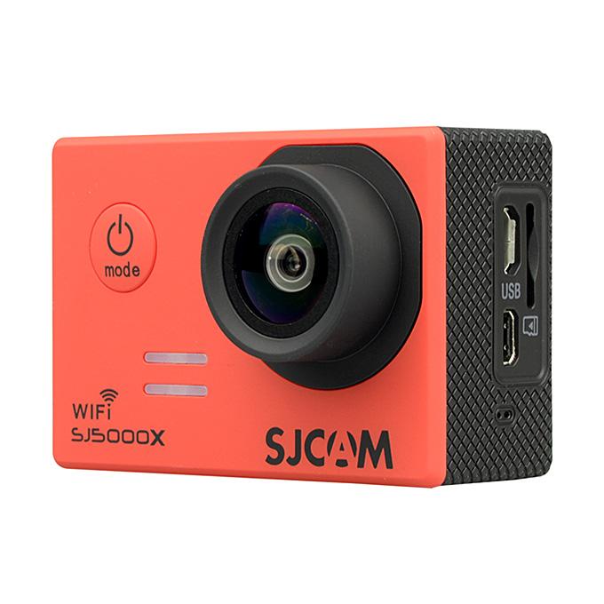 SJCAM SJ5000X ELITE WiFi Action Camera 2.0 Inch LCD Screen 4K HD 12.4MP Sensor 170 Degree Angle Len Wide Dynamic Range With Waterproof Case - Red