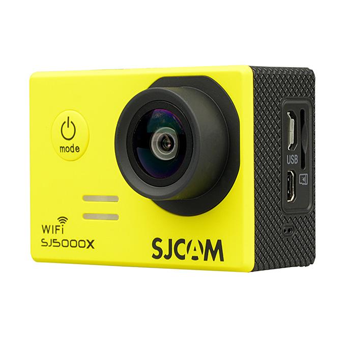 SJCAM SJ5000X ELITE WiFi Action Camera 2.0 Inch LCD Screen 4K HD 12.4MP Sensor 170 Degree Angle Len Wide Dynamic Range With Waterproof Case - Yellow