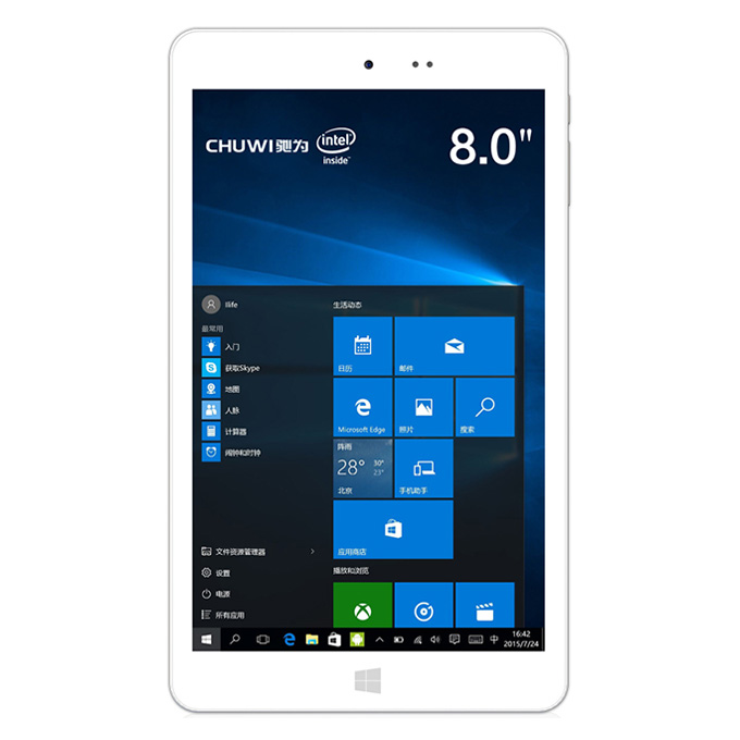 CHUWI Hi8 Pro Windows10 Android 5.1 2GB/32GB 8 Inch Tablet PC Intel Cherry Trail Z8350 Quad Core 1.92GHz Type-C IPS 1920*1200 HDMI - White