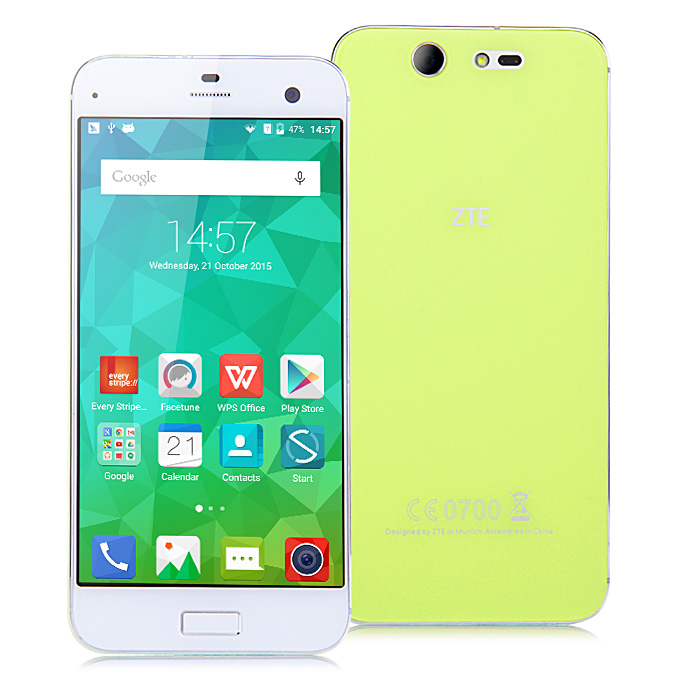 ZTE Blade S7 5.0inch FHD Android 5.1 3GB 32GB 4G SmartPhone Qualcomm Snapdragon MSM8939 Octa-Core 1.5Ghz Front 13.0MP Back 13.0MP - Green