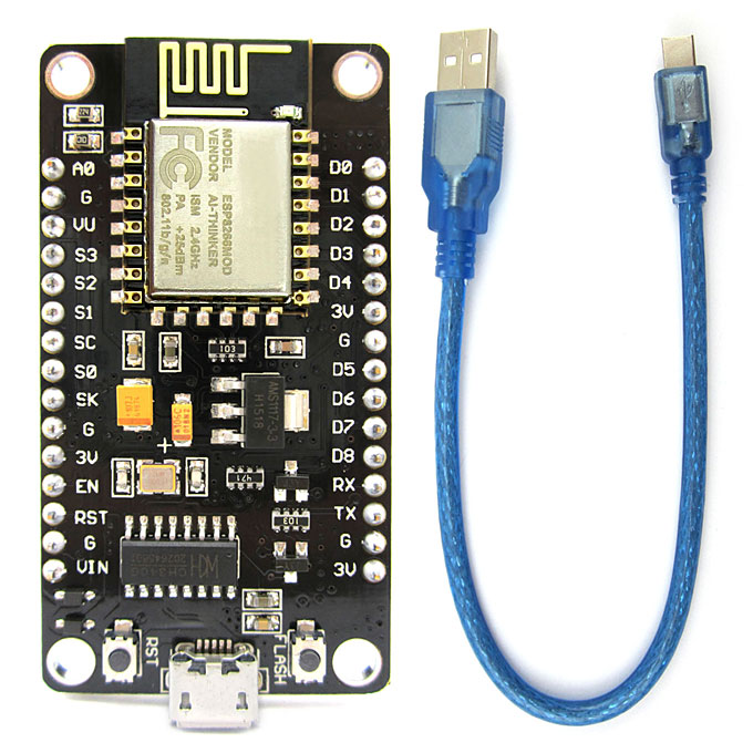 ESP8266 ESP-12E Wifi Development Board Serial Wifi Module w/ Built-in CH340G Driver IC / Micro USB Cable