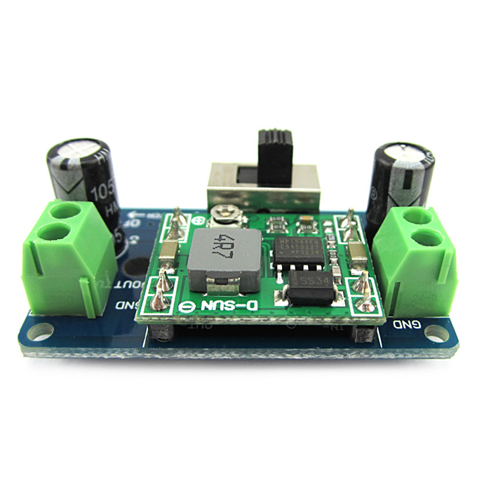 MP1584 5V Buck Converter 4.5-24V Adjustable Step-Down Regulator Module w/ Switch for Arduino DIY Project