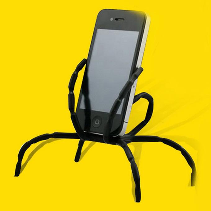 Univerzális Spider Holder Mobiltelefonhoz 8 Leg Cell Phone Spider Holder Kerékpár Autó Otthoni használatra - fekete