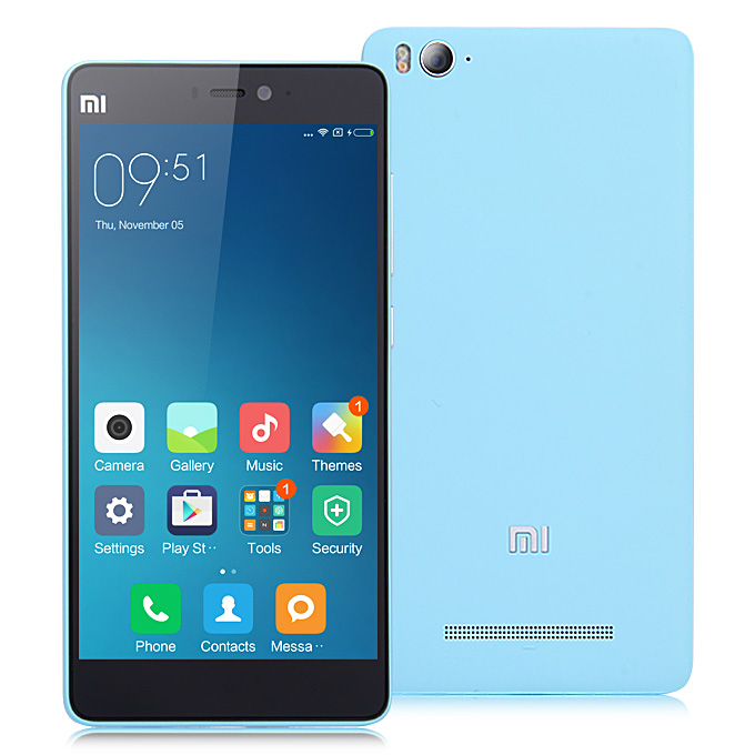Xiaomi Mi4C 5.0inch Android 5.1 2GB 16GB Smartphone 4G FDD-LTE 64-bit Snapdragon 808 Hexa Core 1.8GHz 13.0MP 5.0MP USB Type-C Edge Touch - Blue