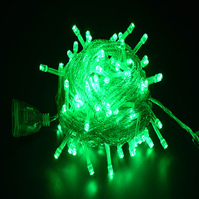 10M Battery Powered 100 LED Starry Fairy String Light Lamp for Festival Party Decoration - Green Light  - buy with discount