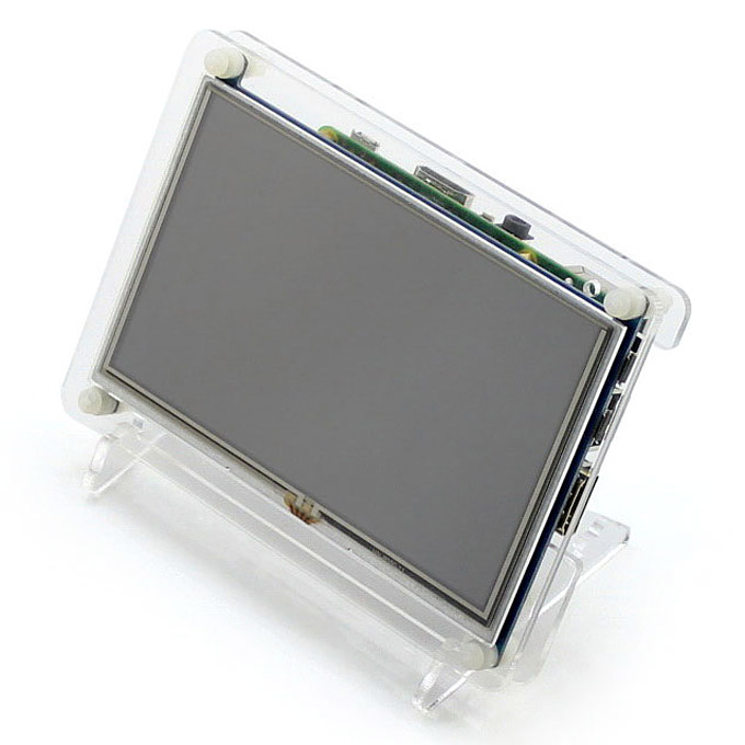 5inch HDMI LCD (B) 800x480 High Resolution with Transparent Case for For Raspberry Pi/BB BLACK/Banana Pi Mainboard/PC
