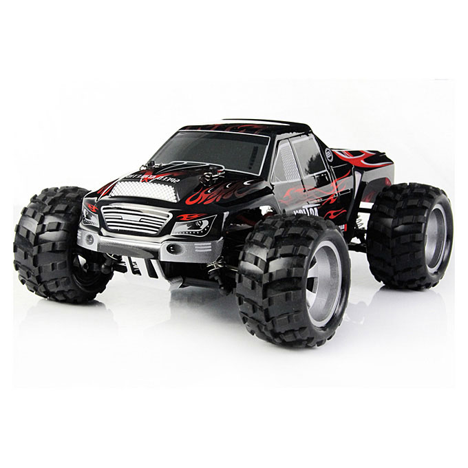 Wltoys A979 4WD High Speed RC Car 1:18 2.4Gh Electric Outdoor Fun Remote Control Toys with 2.4Ghz Transmitter - Black