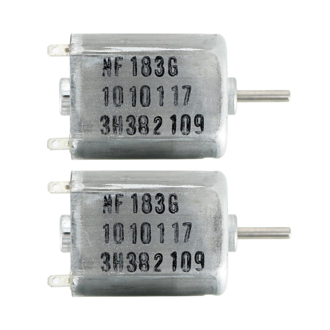 DC 6V-24V High Speed Micro Motor 130-Type Shaft Diameter 2mm 2PCS for Smart Car/Ship Models