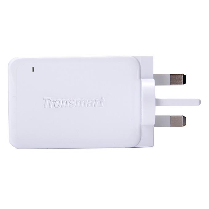 Qualcomm Certified Tronsmart Premium Design Быстрая зарядка 2.0 42W 3 Ports Зарядное устройство для Samsung / Sony / HTC - UK Plug