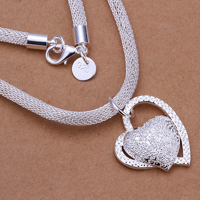 LKNSPCN270 Ασημένιο κολιέ με σχήμα καρδιάς ζιργκόν