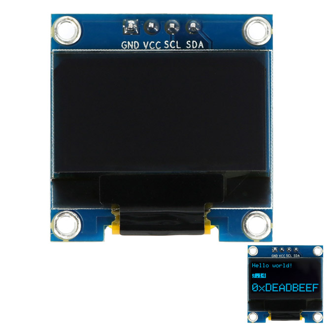 0.96 Inch 128x64 I2C Interface Blue OLED Display Module Board for Arduino