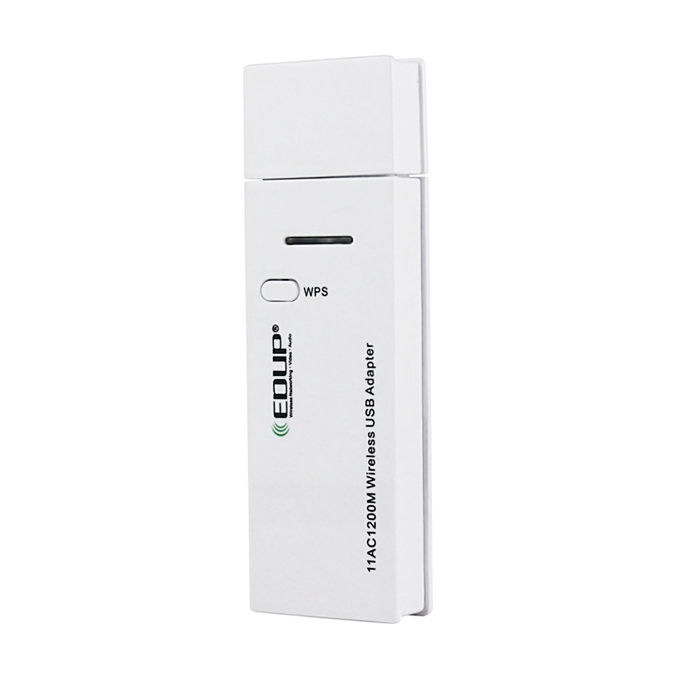 EDUP EP-AC1601 Mini 802.11ac WiFi Dongle WiFi USB 3.0 Adapter 1200Mbps 2.4GHz/ 5.8GHz Dual Bands Network Card - White