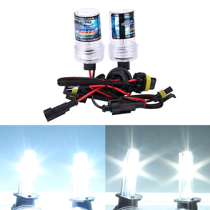 Makibes 6000K 880 881W 55W 12V F250 Xénon CACHÉ Kit Phare de voiture Xenon Ampoule Ballast Slim - Noir + Argent