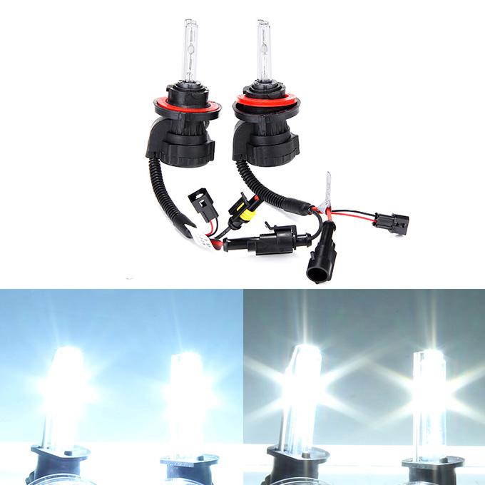 Makibes 6000K H13-3 55W 12V Xenon HID ชุดอุปกรณ์ติดรถยนต์ไฟหน้าซีนอนหลอดไฟบัลลาสต์สลิม - ดำ + เงิน