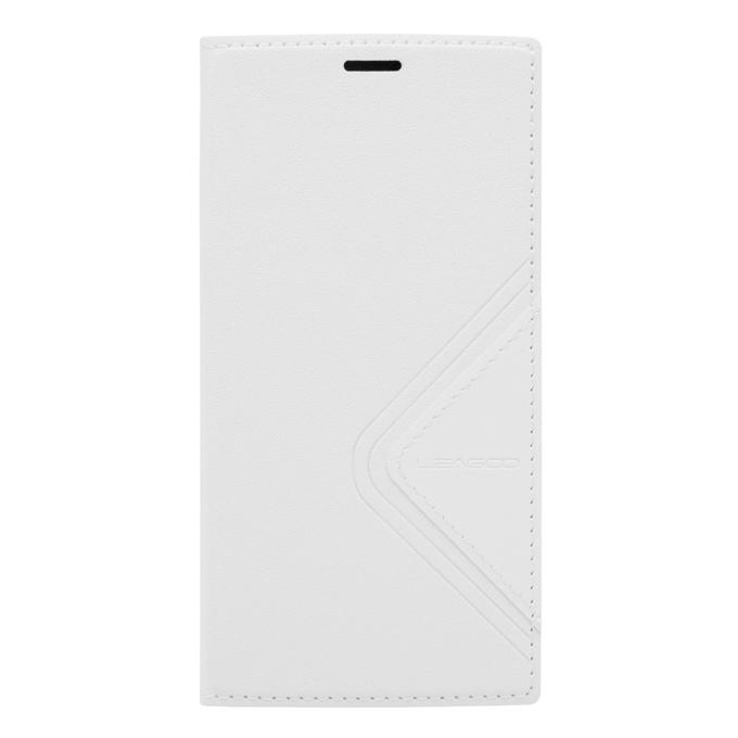 Original Flip Cover Housse de protection avec coque arrière pour LEAGOO ALFA 5 Smartphone - Blanc