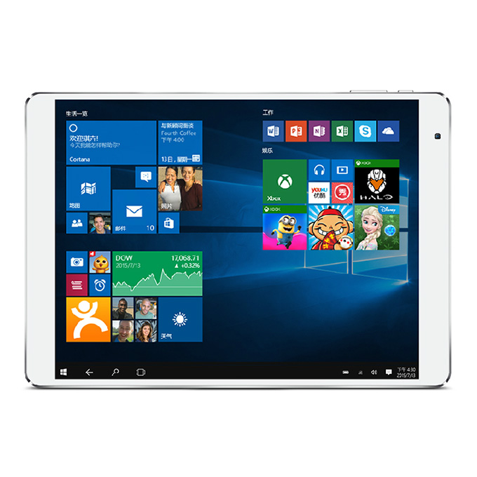 Teclast X98 Plus Dual OS Windows10 + Android 5.1 4GB/64GB 9.7 inch Tablet PC Intel Cherry Trail Z8300 Quad Core 1.84GHz IPS 2048*1536 HDMI - White