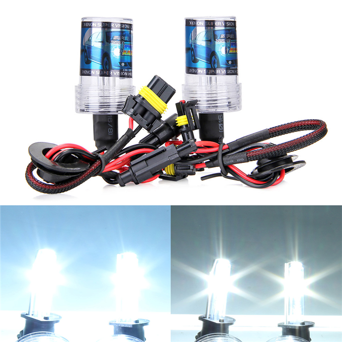 Zinco Xenon H8000 7W 55V Xenon HID Kit auto auricolare Xenon lampadina sottile - nero + argento