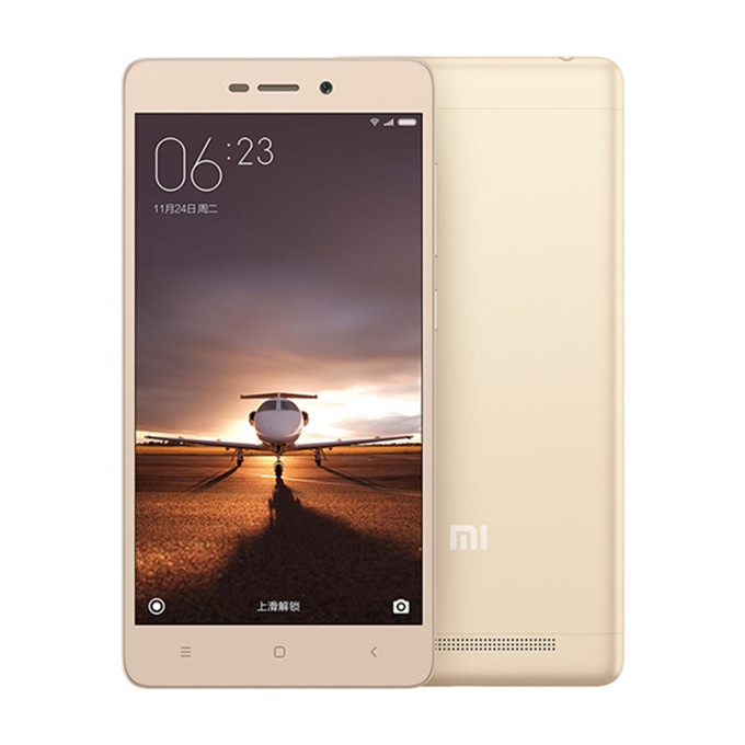 "XIAOMI Redmi 3 5.0"" HD 4G LTE Android 5.1 2GB 16GB Smartphone Qualcomm Snapdragon 616 Octa Core 1.5 GHz 4100mAh 5V/2A Quick Charge Full Metal Body - Classical Gold"