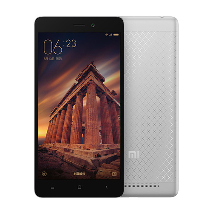 "Xiaomi Redmi 3 5.0"" HD 4G LTE Android 5.1 2GB 16GB Smartphone Qualcomm Snapdragon 616 Octa Core 1.5 GHz 4100mAh 5V/2A Quick Charge Full Metal Body - Gray"