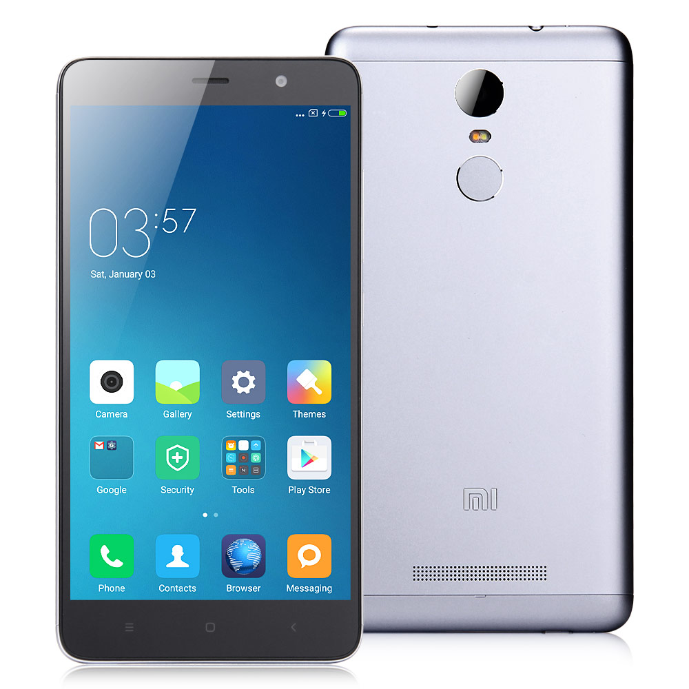Xiaomi Redmi Note 3 Pro 5.5 Inch FHD 3GB 32GB Smartphone Qualcomm Snapdragon 650 Hexa Core MIUI V7 16.0MP TOUCH ID - Dark Gray